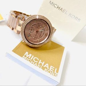 NEW Michael Kors Watch Parker Rose Gold Blush